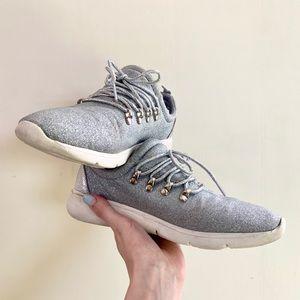 Forever Silver Glitter Running Shoes